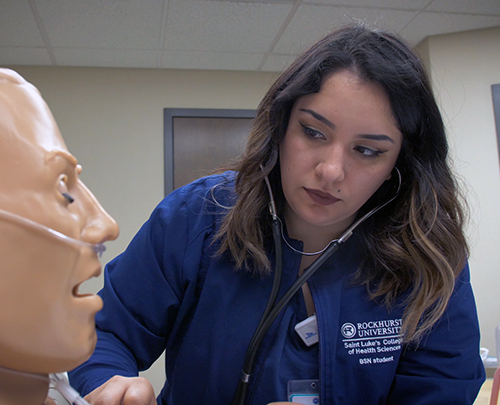 Jennifer Mendoza, BSN student with a criminal justice minor at Saint Luke's College of Nursing and Health Sciences