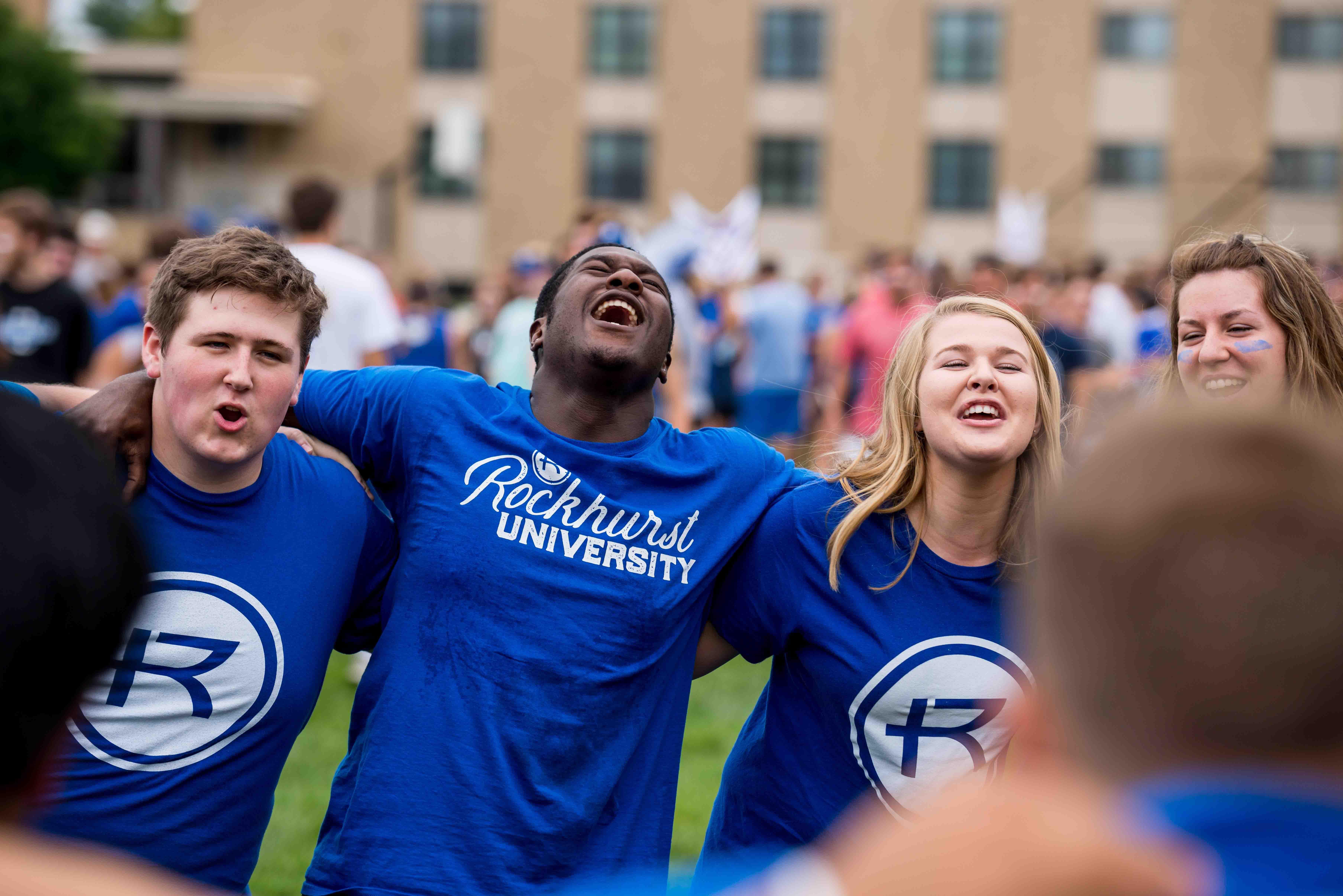 students singing at orientation