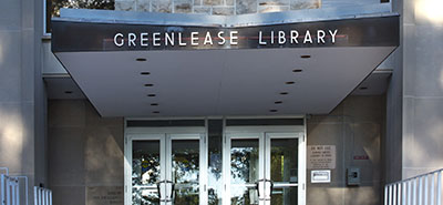 Greenlease Library entrance