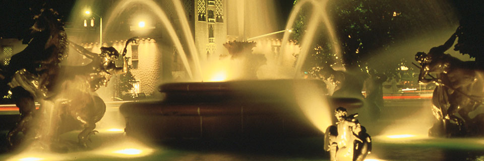 JC Nichols fountain in Kansas City