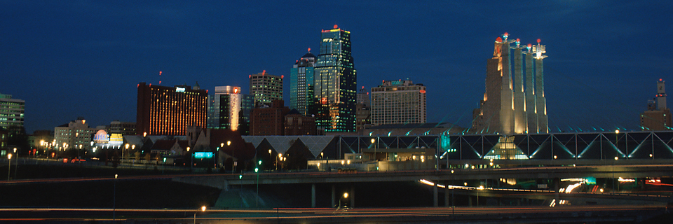 Kansas City skyline at night