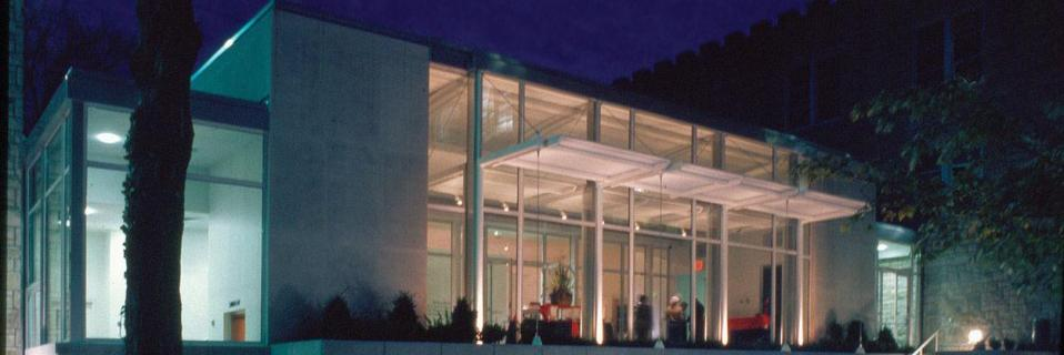 Greenlease library at night