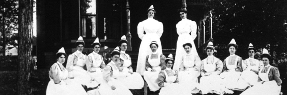 Group of past nursing students