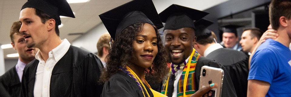 International student graduating