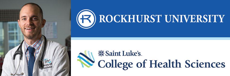 Nursing student with organization logos
