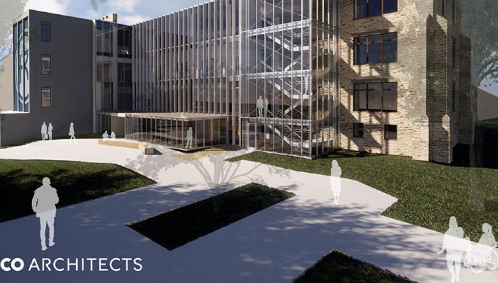 Sedgwick Hall east exterior design renderings