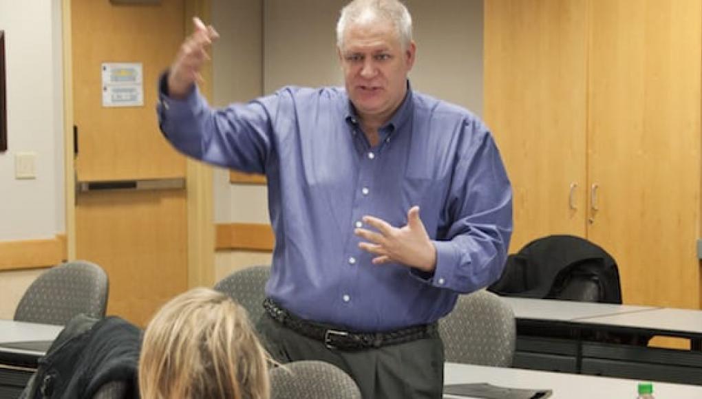 Myles Gartland teaching a class
