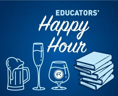 Graphic of educators' happy hour