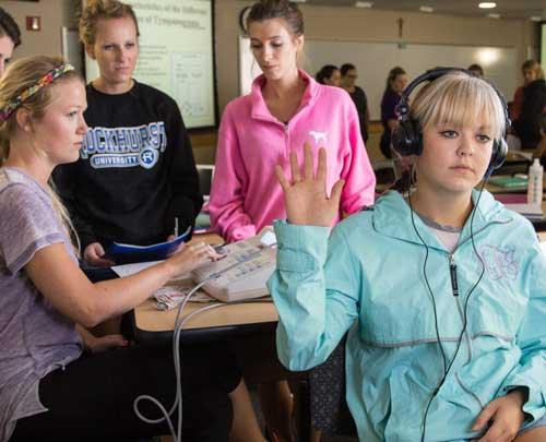 CHHS Students Hearing Screening