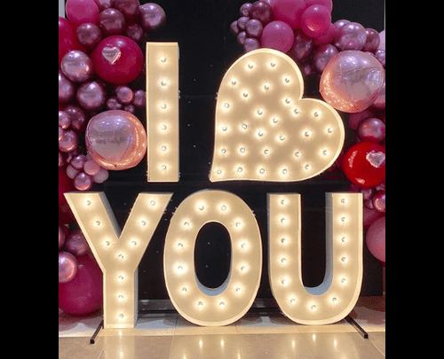 I heart you letters