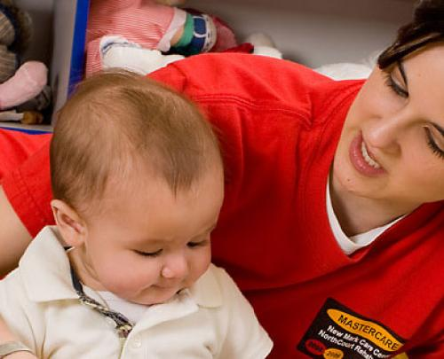 Student in Occupational Therapy with Baby