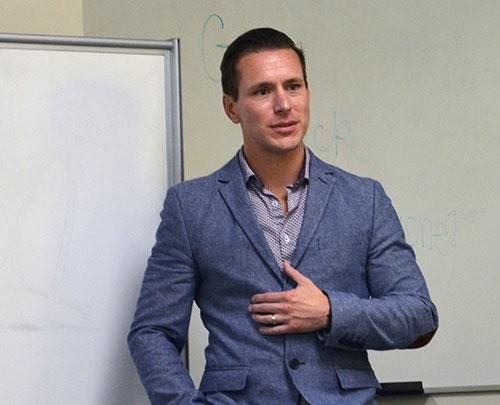 Speaker at presentation