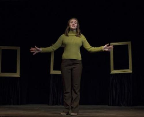 Student performs in a theater production