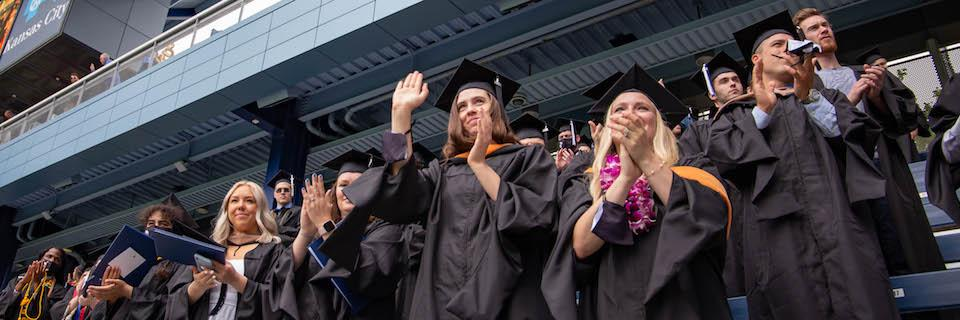 Graduates at the commencement ceremony