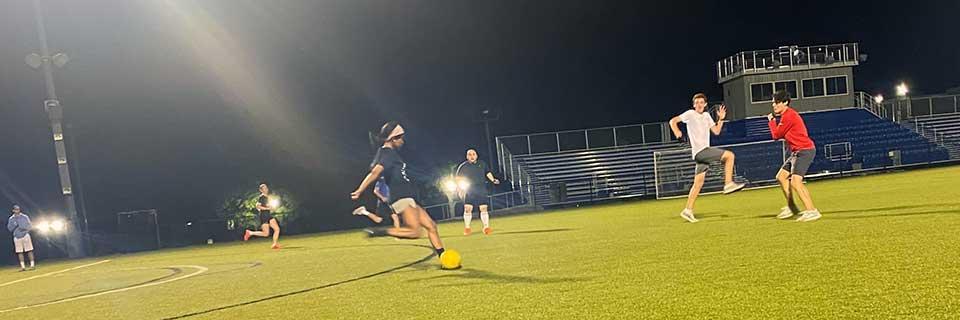 Intramural soccer on Rockhurst's Burke Field