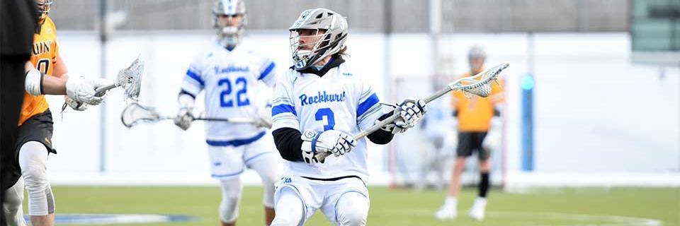 Jason Zabel in action for Rockhurst men's lacrosse