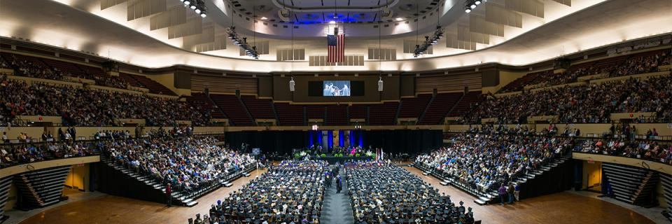 View from the Commencement ceremony