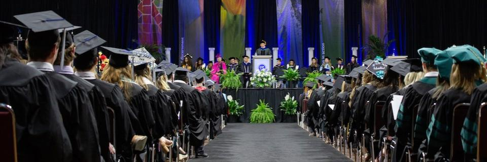 Students at the 2019 Commencement ceremony