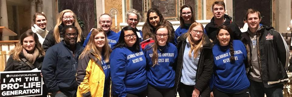 Students after celebrating Mass at the March for Life