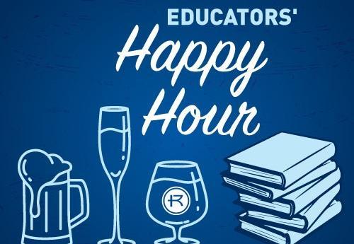 Graphic of educators' happy hour
