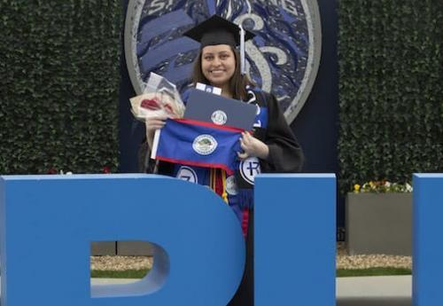 Niki Sanchez following graduation
