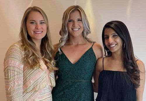 SLU Graduates Hannah Pyle, Katherine Polednik, Ravali Reddy Inja