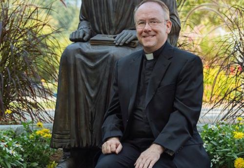 Fr. Brian Frain on campus