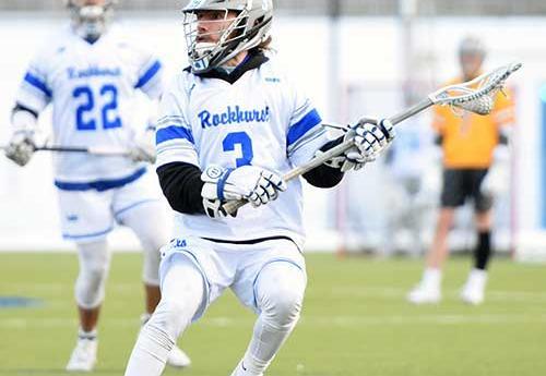 Jason Zabel in action for Rockhurst men's lacrosse (cropped)