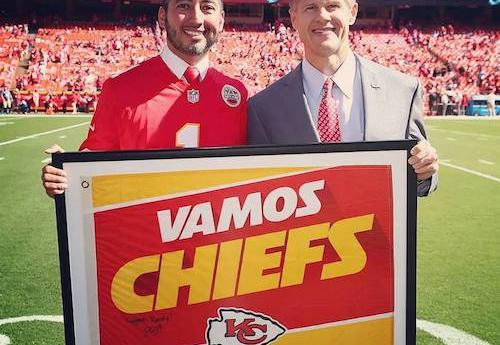 Randy Lopez and Chiefs Owner Clark Hunt