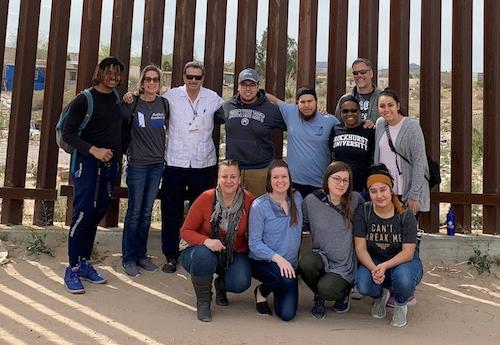 Students during a service immersion trip to El Paso