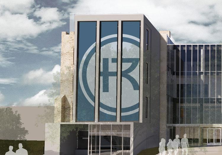 Sedgwick Hall east exterior design rendering