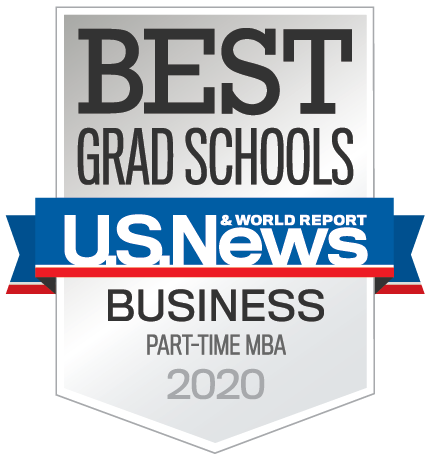US News & World Report Part Time MBA badge